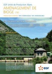 AMÉNAGEMENT DE BIOGE (74) - Energie EDF