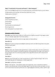 Bilag C: Transskription af interview med kunde 2 – Britta ... - PURE