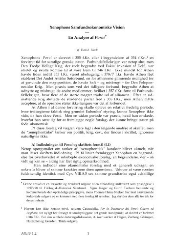 Xenophons Samfundsøkonomiske Vision — En Analyse af ... - Aigis