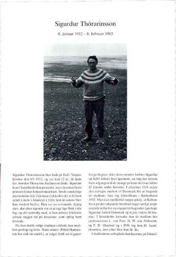 Sigurdur Thorarinsson - Dansk Geologisk Forening