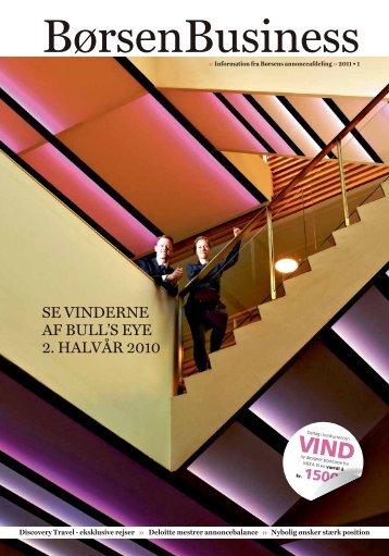 Se vinderne af Bull'S eye 2. halvår 2010 - Børsen