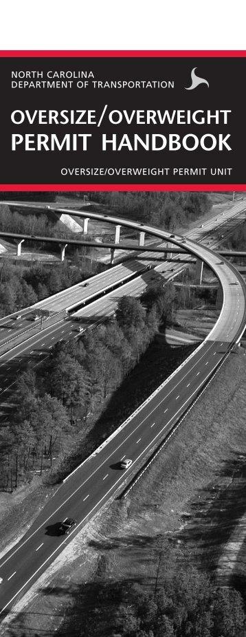 permit handbook - Connect NCDOT - North Carolina Department of ...