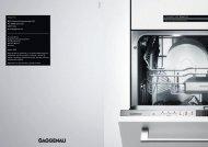Forskjellen heter Gaggenau. De nye oppvaskmaskinene. Gaggenau ...