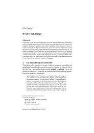 Ole Togeby * Hvad er betydning? - Hermes - Journal of Linguistics