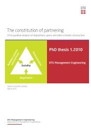 The constitution of partnering - VBN - Aalborg Universitet