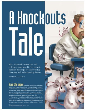 A knockouts tale. - American Chemical Society Publications