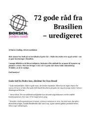 72 gode råd fra Brasilien – uredigeret