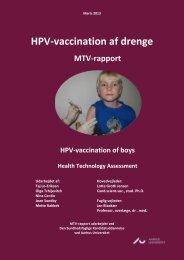 HPV-vaccination af drenge - PURE - Aarhus Universitet