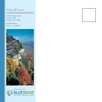 McDowell County Travel Guide - Connect NCDOT