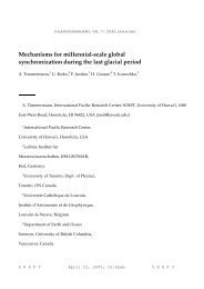 Mechanisms for millennial-scale global synchronization during the ...