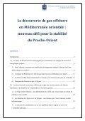 La découverte de gaz offshore en Méditerranée orientale - CESM ... - Page 2