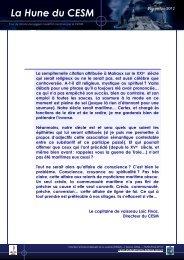 Hune Novembre 2012 - CESM - Ministère de la Défense