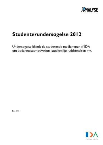 Studenterundersøgelse 2012 - Ida