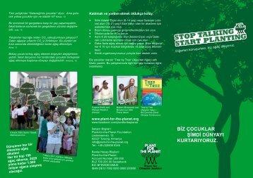 Biz Çocuklar Şimdi dünyayı kurtarıyoruz. - Plant-for-the-Planet