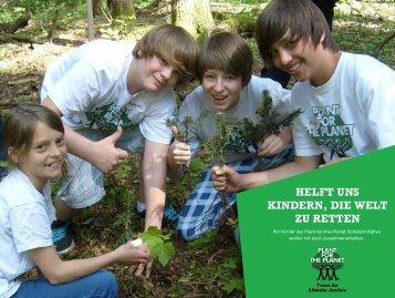 Helft uns Kindern, die Welt zu retten - Plant-for-the-Planet