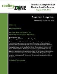 Technical Presentation Summit Program - coolingZONE