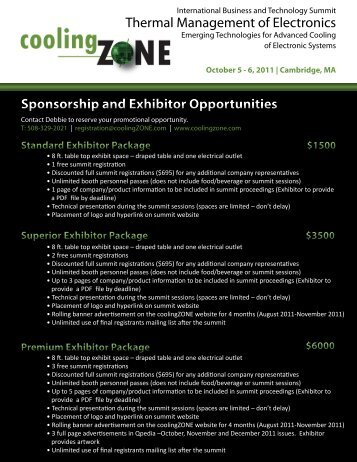 Sponsorship and Exhibitor Opportunities Thermal ... - coolingZONE