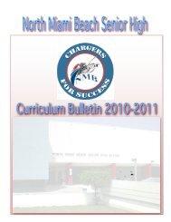 North Miami Beach SHS Curriculum Bulletin 2010