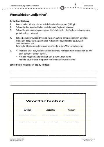 """Wortschieber """"Adjektive"""""""