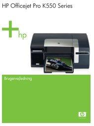 HP Officejet Pro K550 Series