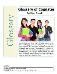 Glossary of Cognates - NYU Steinhardt
