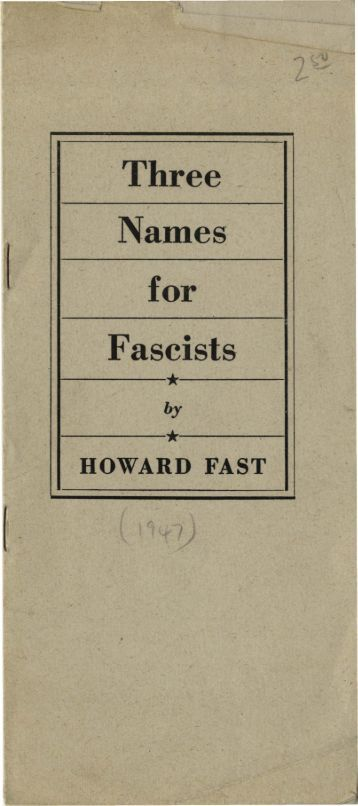 for Fascists
