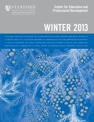 wintEr 2013 - Stanford University School of Medicine