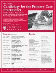 Cardiology for the Primary Care Practitioner - Stanford Hospital ...