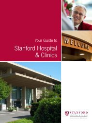 Your Guide to - Stanford Hospital & Clinics