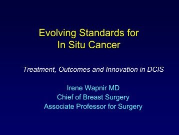 Ductal Carcinoma In Situ - Stanford Hospital & Clinics