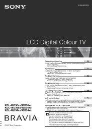 KDL-46D36xx/46D35xx/46D34xx KDL-40D36xx/40D35xx/40D34xx