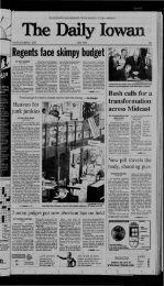 November 7 - The Daily Iowan Historic Newspapers - University of ...