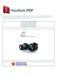 Bruker manual CANON EOS 450D - HANDBOK PDF