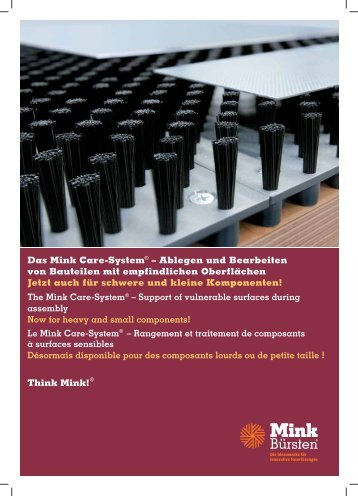 Das Mink Care-System® – Ablegen und Bearbeiten ... - Mink Bürsten