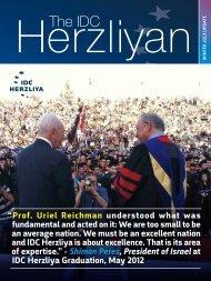 The IDC Herzliyan - Winter 2012