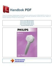 Bruker manual PHILIPS HP4550 - HANDBOK PDF