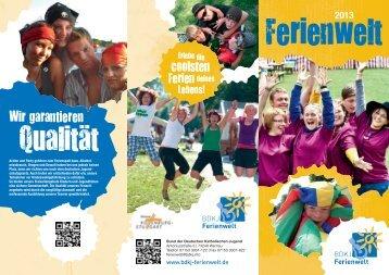 Download Infoflyer Freizeitensaison 2013 - BDKJ Ferienwelt