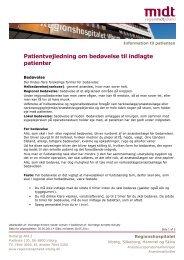 Patientvejledning om bedøvelse til indlagte patienter.pdf - e-Dok