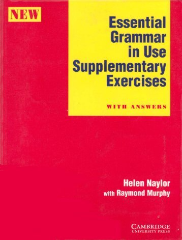 Page 1 Essential Grammar i Ñ in Use I Supplementary 1* Exercises ...