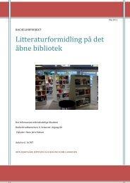 Litteraturformidling på det åbne bibliotek - Forskning