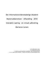 Masterafhandling samlet dokument med bilag