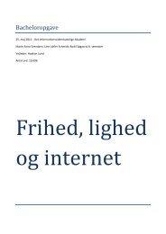 Frihed, lighed og internet - Forskning