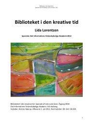 Biblioteket i den kreative tid - Forskning - IVA