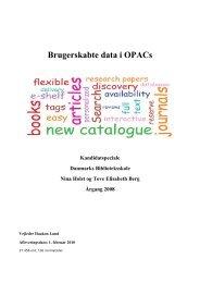 Speciale brugerskabte data i OPACs - Forskning