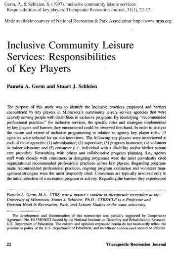 benefits of leisure Request pdf on researchgate | benefits of leisure activities for health and life  satisfaction among western migrants | the purpose of this study was to examine .