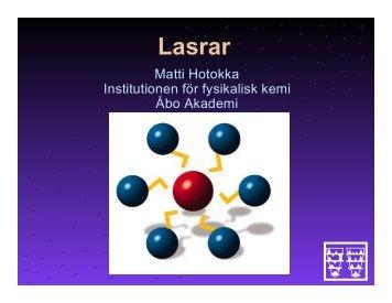 Lasrar - Åbo Akademi