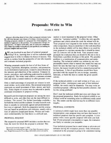 writing grant proposals that win If you are on your way to write a grant proposal, no wonder your task is now to win it however don't you think, what exactly it takes to write a winning grant proposal.