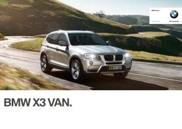 BMW X3 VAN.