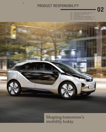 Product Responsibility - BMW Group