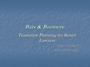 Bars & Boomers - American Bar Association